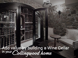 Increase Value of your Collingwood Home with a Wine Cellar